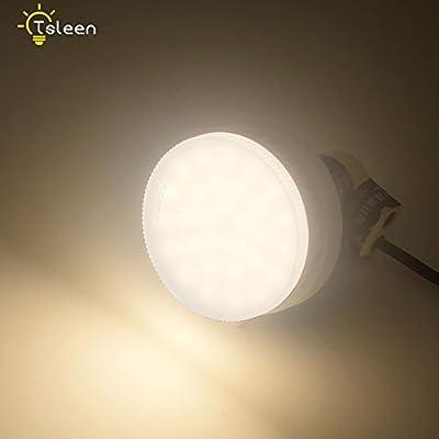 GX53 LED Bulb 85-265V 18W Bright Spotlight Warm White for Living Room,Bedroom,Cabinet, Showcase, Exhibition, Shop Showroom Lighting