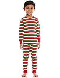 Boys Girls Christmas Striped Red White Green 2 Piece...