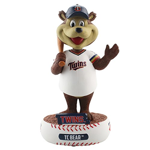 FOCO MLB Minnesota Twins Unisex Baller BOBBLEBALLER Bobble, Team Color, One - Twins Mascot Minnesota
