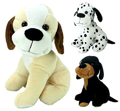 COOLMP – Lote de 3 – Peluche para Cachorro Sentado 23 cm Modelos Surtidos
