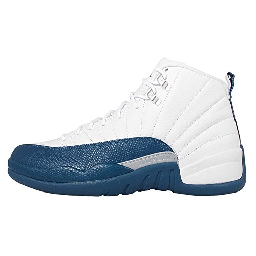 AIR-Jordan Men's Air Jordan 12 Retro White french blue Basketball Shoe Model Number: 130690113