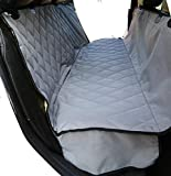 Plush Paws Ultra-Luxury Pet Seat Cover – 2 Bonus Harnesses 2 Seat Belts for Cars Trucks & SUV – Grey, Waterproof, Nonslip Silicone Backing