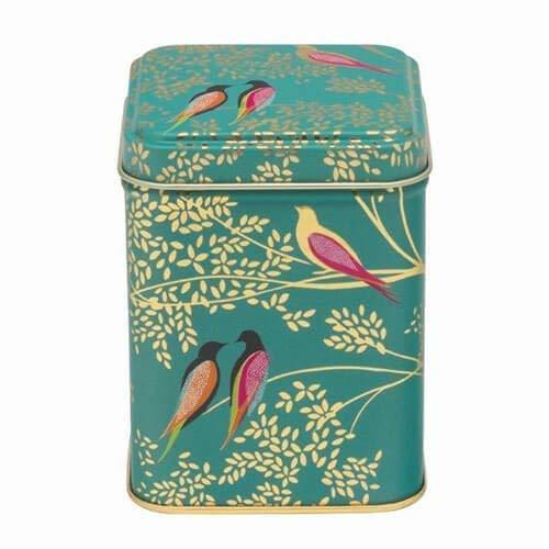 Sara Miller Birds Green Square Tin Elite Tins