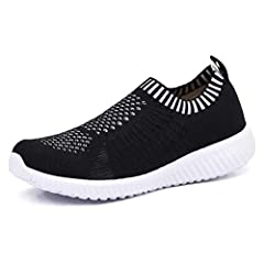 Item type: Walking shoes Vamp: Knitted fabric Sole material: Ultra-light Rubber Closure: Slip-on Heel Type: Flat Season: Spring, Summer, Autumn, Winter Package Includes: 1 pair women walking shoes These walking shoes are perfect for indoor or...