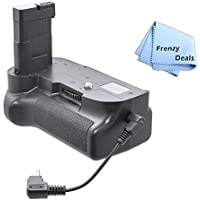 Pro Series Battery Grip for Nikon D3100, D3200, D3300 + Frenzy Deals Microfiber Cloth