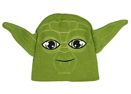 Star Wars Yoda Winter Beanie Hat Green Unisex Boys/Girls Winter Cap Disney 4-16