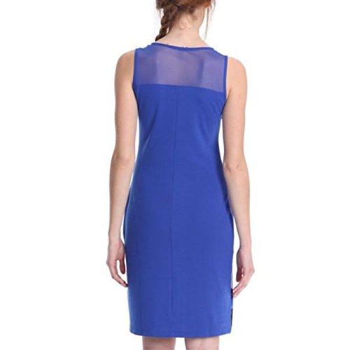 Qiyun - Vestido para mujer Azul