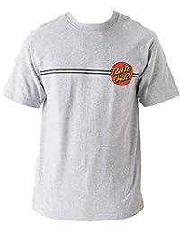 Santa Cruz Mens Classic Dot Regular Short-Sleeve Shirt Small Athletic Heather