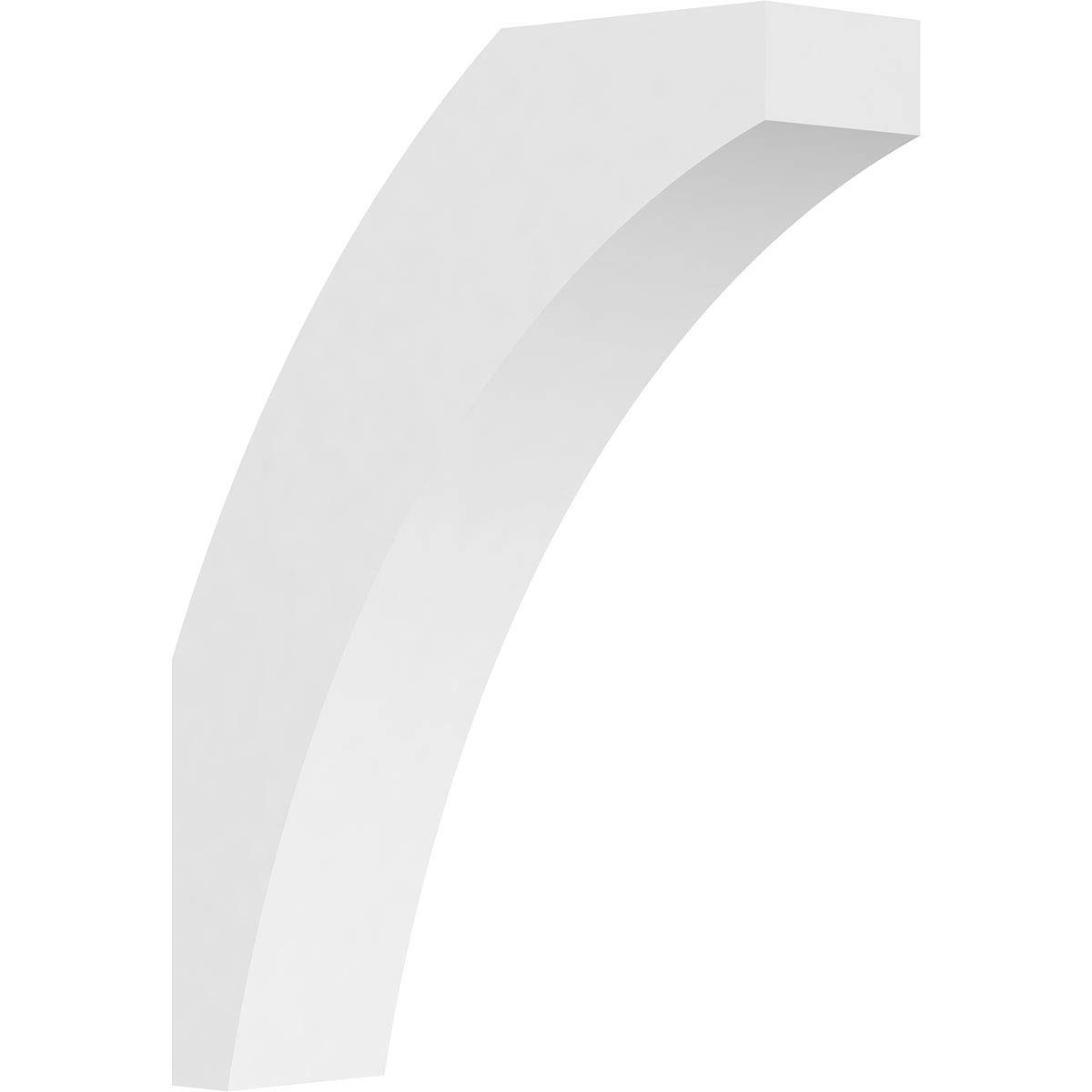 Ekena Millwork BRCP03X12X16THR PVC Brace, 3'' W x 12'' D x 16'' H, White