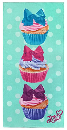 Jay Franco Nickelodeon JoJo Siwa Cupcake Kids Bath/Pool/Beach Towel - Super Soft & Absorbent Fade Resistant Cotton Towel, Measures 28 inch x 58 inch (Official Nickelodeon Product) ()