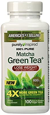 Purely Inspired 100% Pure Matcha Green Tea, 100 Count