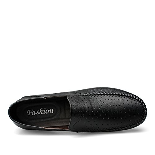 Minitoo Boys Mens Mesh Breathable Fashion Daily Loafers Black