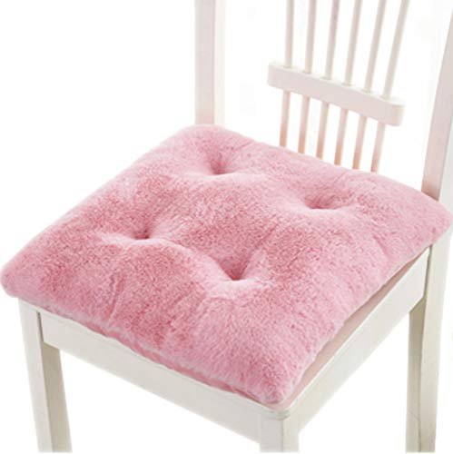 Pink Chair Pad - Tourequi Warm Nonslip Plush Wearproof Seat Cushions Thicken Office Winter Stool Pads (Pink)