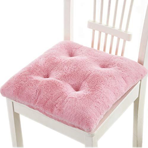 Tourequi Warm Nonslip Plush Wearproof Seat Cushions Thicken Office Winter Stool Pads (Pink)