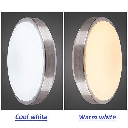 Yaojiaju Ceiling Light Fixture, Diameter 21cm 12W 24W Acryli Panel Aluminum Frame Edge Indoor Bedroom Kitchen 3 Position LED Light (Color : 3 Position, UnitCount : 220V-24W)