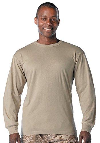 Rothco Long Sleeve T-Shirt, Sand, XX-Large