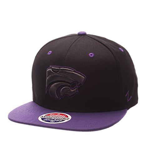 Zephyr NCAA Kansas State Wildcats Adult Men's Z11 Phantom Snapback Hat, Adjustable Size, Black/Team Color