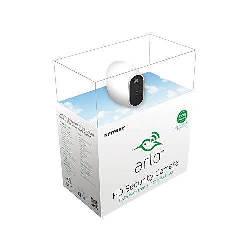Arlo - Wireless Home Security Camera System | Night vision, Indoor/Outdoor, HD Video, Wall Mount | Includes Cloud Storage & Required Base Station | 1-Camera System (VMS3130)