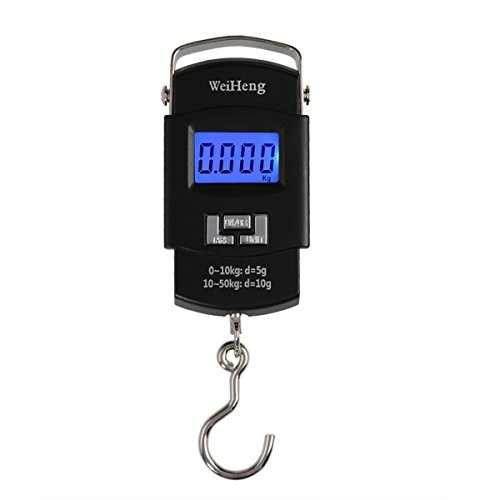 WeiHeng A08 50KG//5g luggage scale luggage weight scale suitcase scale Backlight Digital Handle Luggage Scale Portable