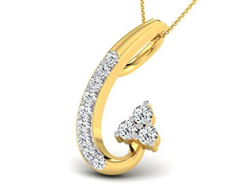 Or Jaune 9 ct Pendentifs Diamant , 0.07 Ct Diamant, GH-SI, 0.37 grammes.
