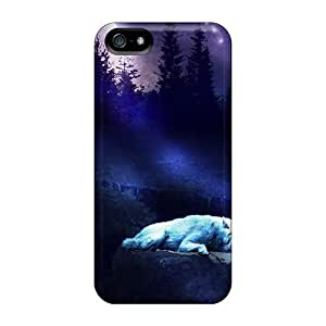 Defender Case With Nice Appearance (sleeping In Moonlight) For Iphone 5/5s
