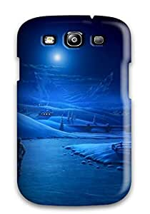 For Galaxy S3 Tpu Phone Case Cover Drawing Of Walking Couple In Moonlight Holding Hands