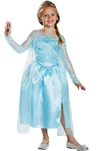Disney's Frozen Elsa Snow Queen Gown Classic Girls Costume, -