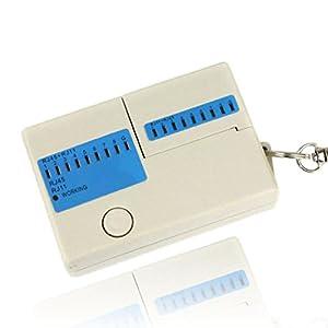 New Pocket LED Ethernet 4 Port RJ45 RJ11 Cat5 Network LAN Cable Tester With Keychain