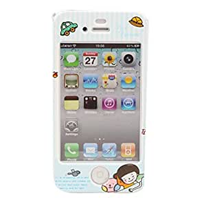 Protective Cartoon Back & Front Case for iPhone 4 / 4S