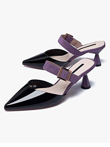 Koele Slippers Mode Bleek Goed Met Molenaar Schoenen Baotou Slippers Vrouwen Platte Schoenen Paars