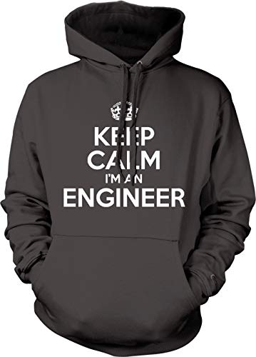 Engineer Occupations Mens Hoodie - Tcombo Keep Calm I'm A Engineer Unisex Hoodie Sweatshirt (Charcoal, X-Large)