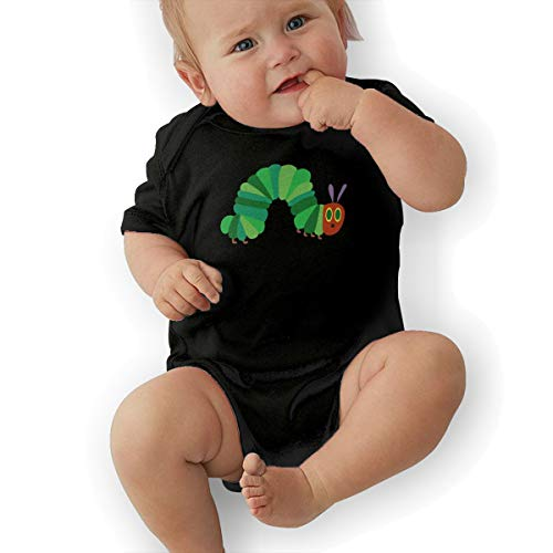 Dutchi The Very Hungry Caterpillar Unisex Funny Infant Romper Baby BoyPlaysuit 43 Black