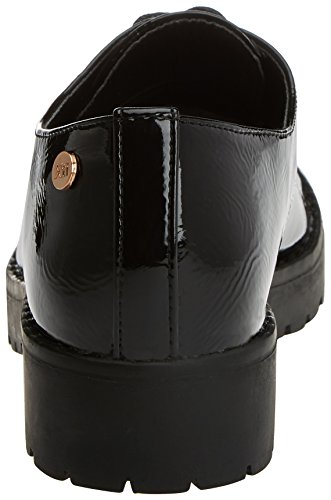 Cordones Black Mujer Zapatos Negro Oxford de XTI para 047512 AFzUtt
