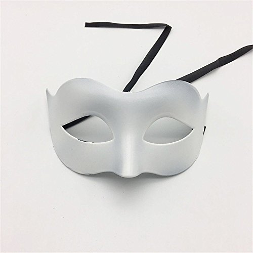 Face mask Shield Veil Guard Screen Domino False Front Glamour Men Mask Halloween Makeup Prom Mask Ladies Solid Color Minimalist Half Face Zorro Mask Mask White