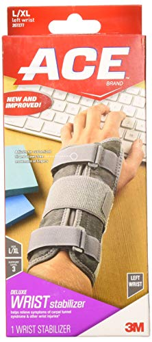 ACE Deluxe Wrist Stabilizer, Large/Extra-Large, America's Most Trusted Brand of Braces and Supports, Money Back Satisfaction Guarantee