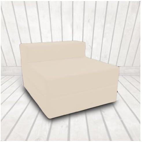 Sofá de 1 Plaza de Twill 100% Algodón Futón Plegable Color Piedra ...