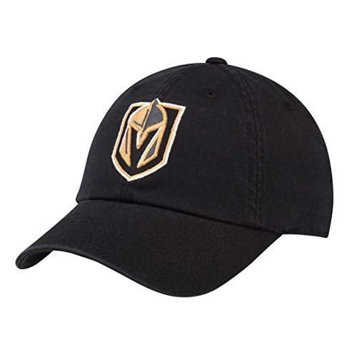 (American Needle Vegas Golden Knights Blue Line Twill Adjustable Dad Hat Black)