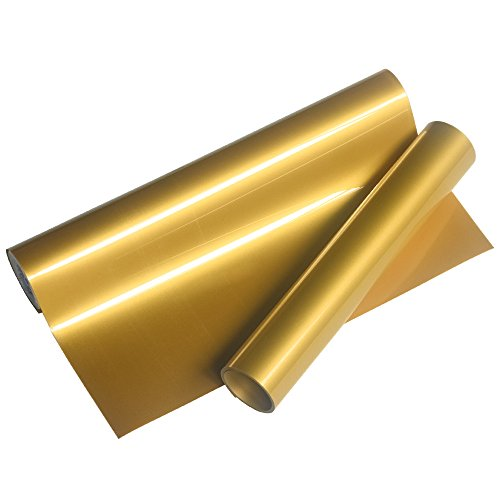 VINYL FROG Gold Heat Transfer Vinyl Roll HTV for Cameo for DIY Garments,T-Shirts 0.8x5ft