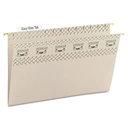 Tuff Hanging Folder with Easy Slide Tab, Legal, Steel Gray, 18/Pack, Sold as 18 Each