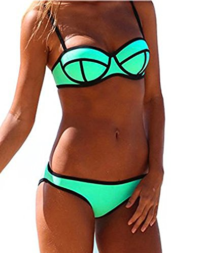 Ericoco Women's Sexy Structured Bright Wet Suit Bikini Swimsuit