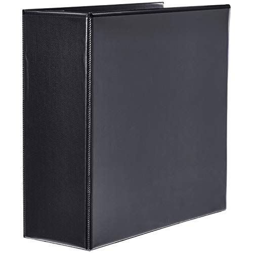 AmazonBasics Heavy-Duty D-Ring Binder - 4 Inch, Black, 2-Pack