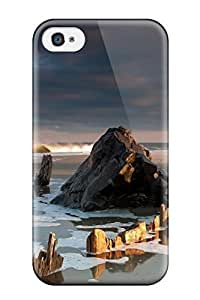 High Impact Dirt/shock Proof For Case Samsung Galaxy S5 Cover (vertical Beach Rocks)