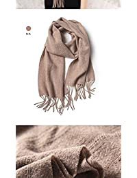 YUANZ Home Scarf Female Student Autumn and Winter Solid Color Warm Scarf Pink Korean Version of The Wild Simple (Color : Brown, Size : 180cm)