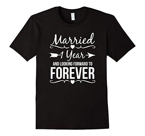 Mens 1 Year Anniversary Gifts for Her Him 1st Wedding Anniversary Medium Black