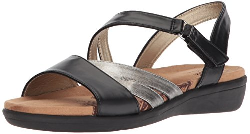 - Soft Style by Hush Puppies Women's Pavi Sandal, Black Vitello, 09.5 W US
