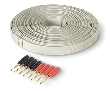 Belkin AV 15 AWG Flat Speaker Wire with Pins 9m: Amazon.co.uk ...