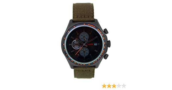 Amazon.com: Fossil Mens CH2781 Nylon Analog with Black Dial Watch: Fossil: Watches