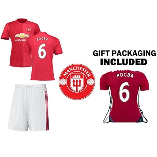 9bd79c46c1f JerzeHero Manchester Pogba  6 Kids Youth 3 in 1 Soccer Gift Set ✓ Soccer  Jersey