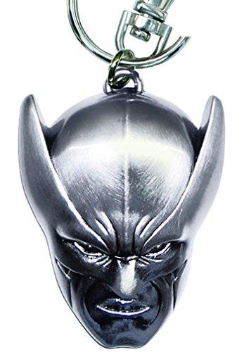 Marvel Comics Wolverine Big Face Pewter Key Chain Key Ring Tag