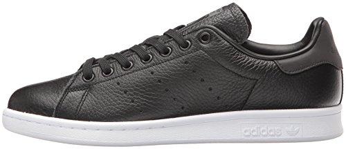 Adidas Originals Men's Stan Smith Fashion Sneaker, Black/Black/White, 9.5 M US